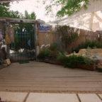 צימבר, צימרים רומנטים בנגב, חצר הבקתה האפריקאית