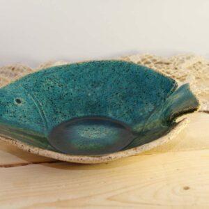 סטודיו בר, כלי הגשה מקרמיקה – קערה דגם דג טורקיז
