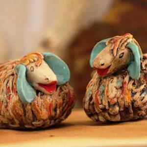 סטודיו בר, כבשים מקרמיקה בעבודת יד, קישוט לבית