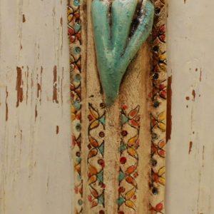 סטודיו בר, מזוזה מקרמיקה בעבודת יד, דגם אתני